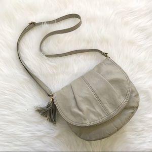 H&M tassel crossbody bag foldover saddle purse